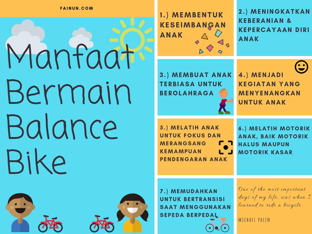 Manfaat Bermain Balance Bike