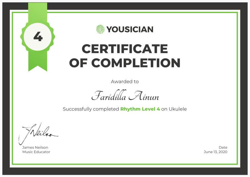 e-Certificate dari Yousician