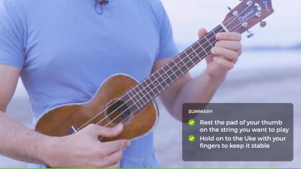 Salah satu video belajar alat musik Ukulele di aplikasi Yousician