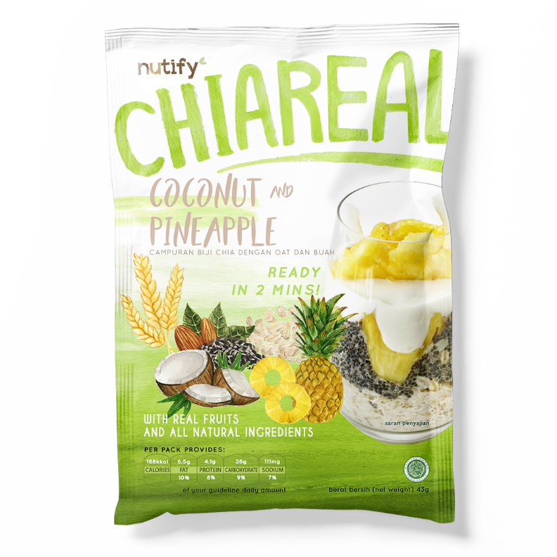 Sarapan Sehat Nutify CHIAREAL Coconut & Pineapple