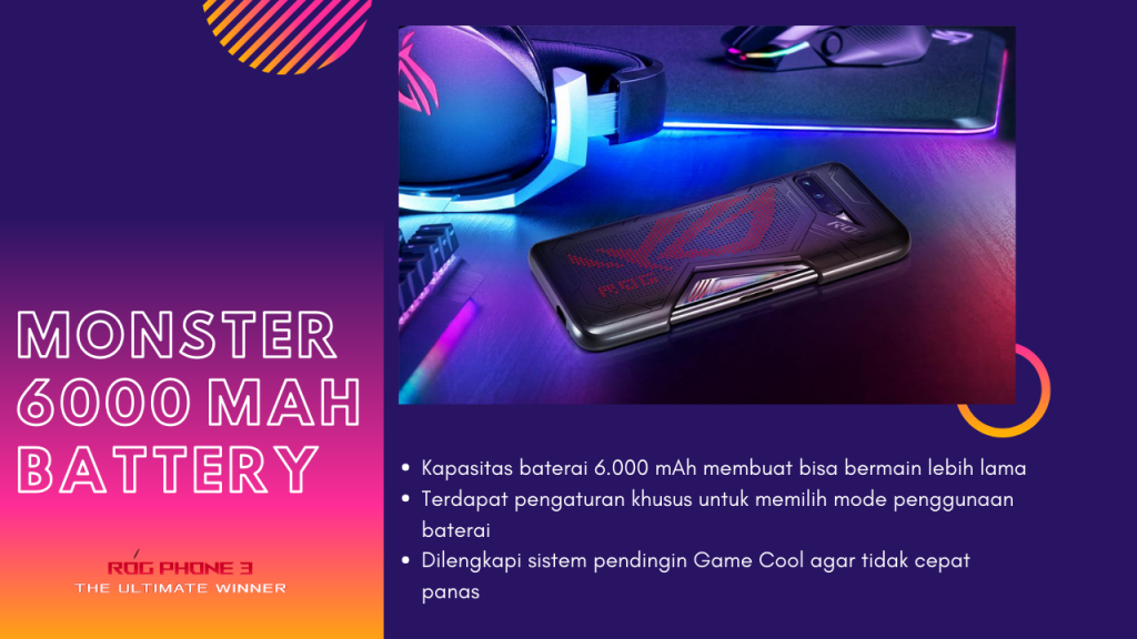 ASUS ROG Phone 3 with Monster 6000 mAh battery