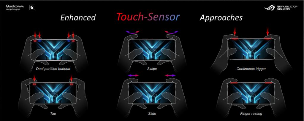 Berbagai kemampuan gerakan sensor samping pada AirTrigger 3