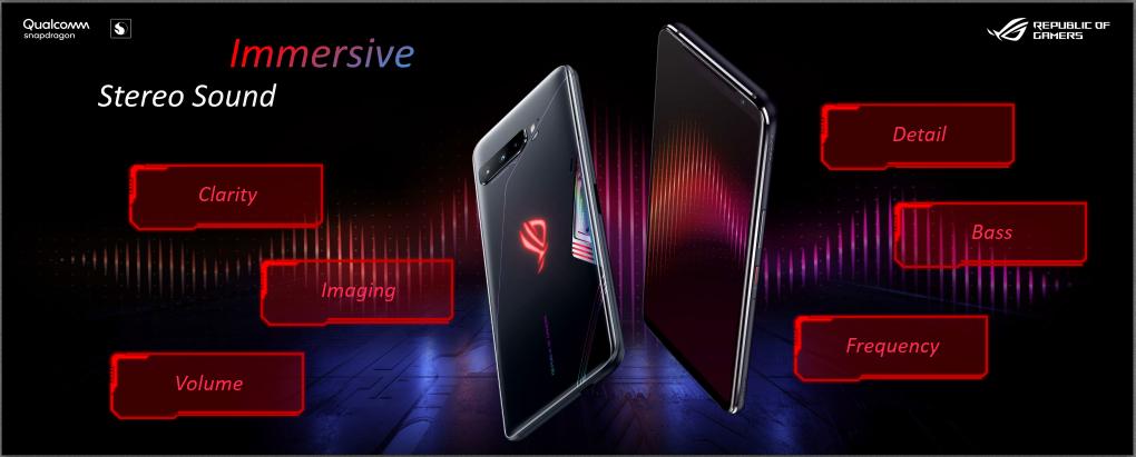 Immersive Stereo Sound dari ASUS ROG Phone 3