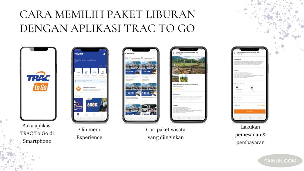 Panduan memilih paket liburan dengan Aplikasi TRAC To Go